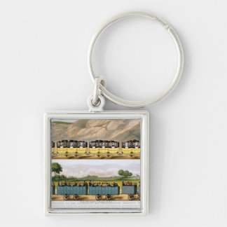 Traveling on the Liverpool and Manchester 2 Key Ring