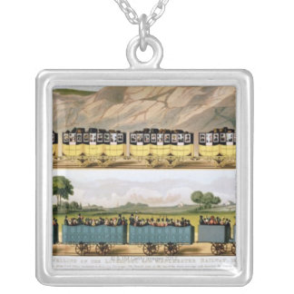 Traveling on the Liverpool and Manchester 2 Silver Plated Necklace