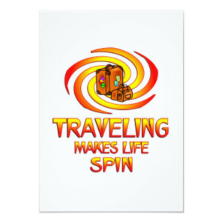 Traveling Spins 13 Cm X 18 Cm Invitation Card