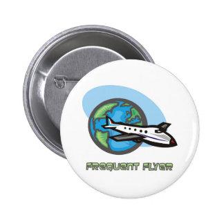 Traveller: Frequent flyer passenger airplane 6 Cm Round Badge