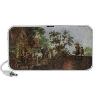 Travellers by an Inn (oil on canvas) Mp3 Speakers