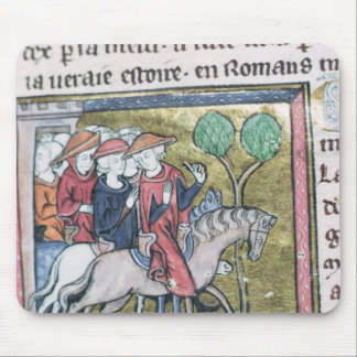 Travellers, from the Roman de Jules Cesar Mouse Mat