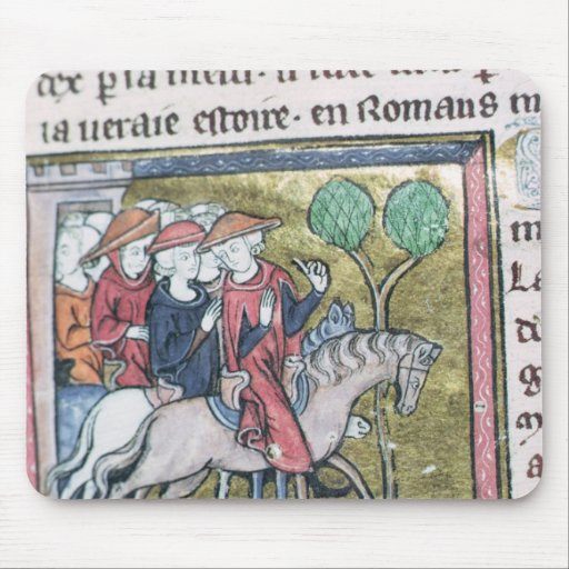 Travellers, from the Roman de Jules Cesar Mouse Pads