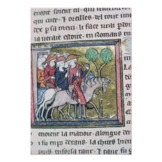 Travellers, from the Roman de Jules Cesar Poster