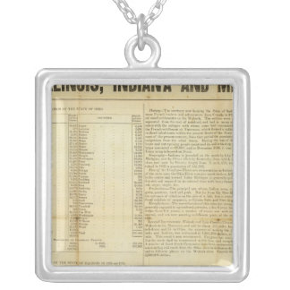 Travellers guide and emigrants directory silver plated necklace