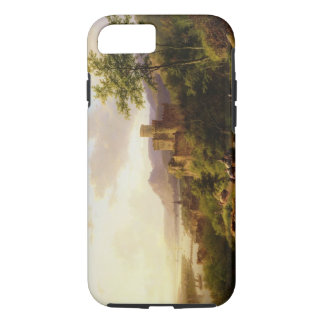 Travellers on a Path in an extensive Rhineland Lan iPhone 8/7 Case