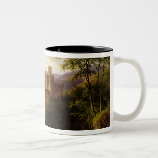 Travellers on a Path in an extensive Rhineland Lan Two-Tone Coffee Mug