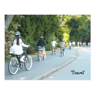 Travelling Bicycles Postcard