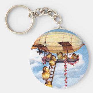Travelling Chicks Basic Round Button Key Ring
