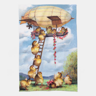 Travelling Chicks Tea Towel