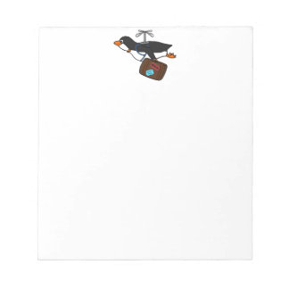Travelling Flying Helicopter Penguin with Suitcase Notepad
