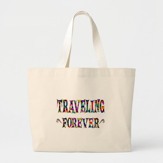 Travelling Forever Large Tote Bag