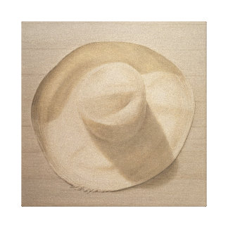 Travelling Hat on Dusty Table 2010 Canvas Print