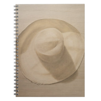 Travelling Hat on Dusty Table 2010 Spiral Notebook
