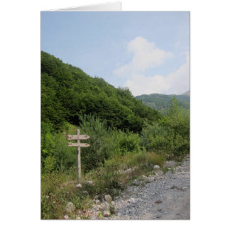 Travelling in Northern Italy Greeting Card