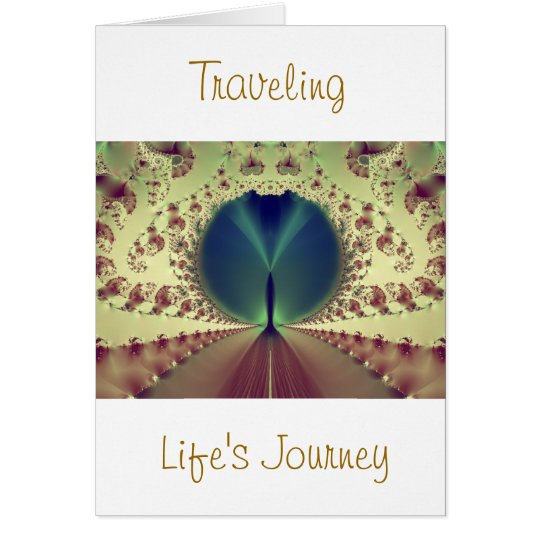 Travelling Life's Journey Greeting Card