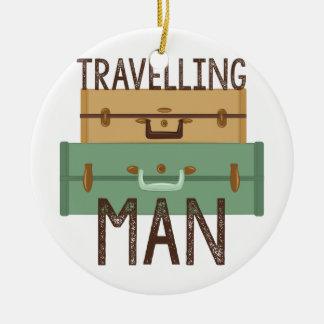 Travelling Man Christmas Ornament