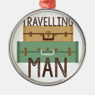 Travelling Man Christmas Ornament