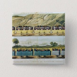 Travelling on the Liverpool and Manchester 15 Cm Square Badge