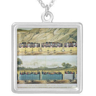 Travelling on the Liverpool and Manchester Silver Plated Necklace