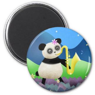 Travelling Panda Band - sax magnet
