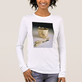 Travelling set of a knife, fork, spoon and beaker, long sleeve T-Shirt