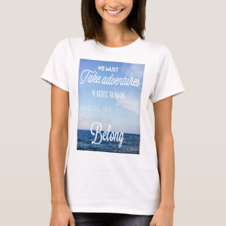 travelling t-shirt top for women