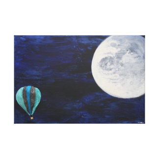 Travelling to the moon canvas print