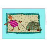 Travelling Turtle Greeting Card