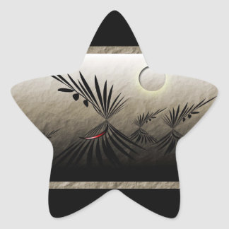 Travels Star Sticker