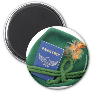 TravelsAbroad053109 6 Cm Round Magnet