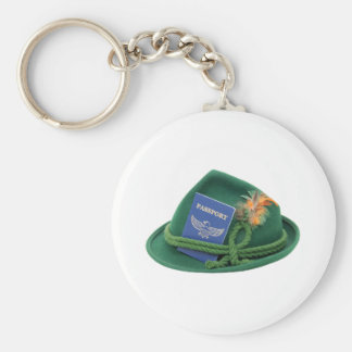 TravelsAbroad053109 Basic Round Button Key Ring