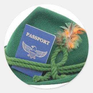 TravelsAbroad053109 Round Sticker