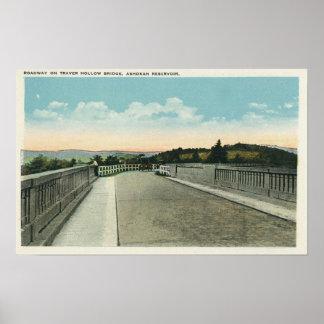 Traver Hollow Bridge Roadway View Poster