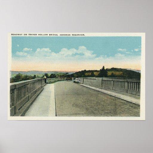 Traver Hollow Bridge Roadway View Print