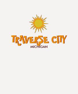 TRAVERSE CITY, MICHIGAN - Ladies 3/4 Sleeve Raglan Tshirt