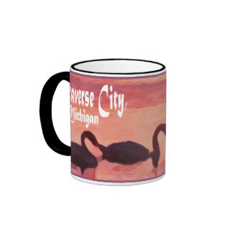 Traverse City, Michigan Ringer Mug