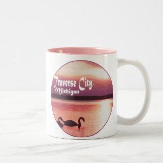 Traverse City, Michigan Two-Tone Coffee Mug