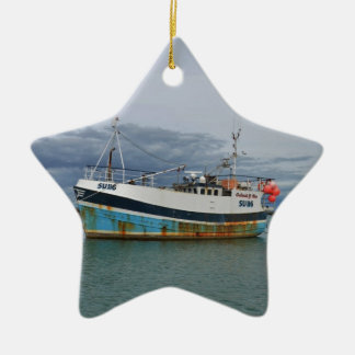 Trawler Galwad-Y-Mor Ceramic Star Decoration