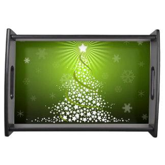 """Tray """"Christmas Green """" Food Tray"""