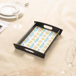 Tray for matzo. The Jewish holiday Passover backgr Service Tray