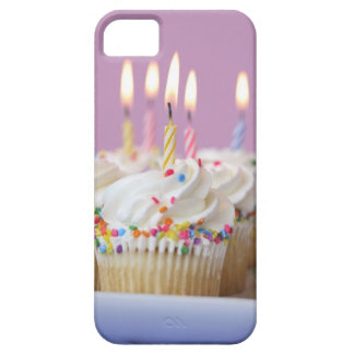 Tray of birthday cupcakes with candles case for the iPhone 5