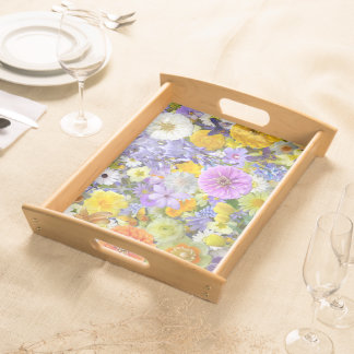 Tray - Serving - Flowers and Butterflies