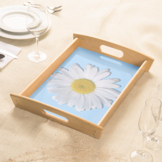 Tray - Serving - New Daisy on Blue