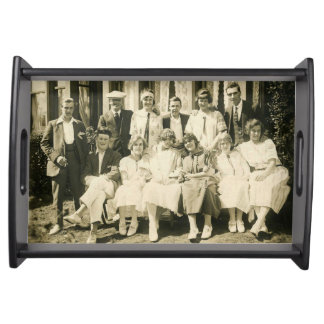 Tray with vintage image taken around 1920/1930