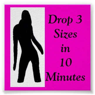 tre2 lady logo, Drop 3 Sizesin10 Minutes Poster