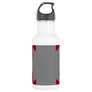 TRE 4 Triangles Abstract Grey Blue Red White 532 Ml Water Bottle