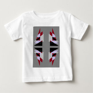 TRE 4 Triangles Abstract Grey Blue Red White Baby T-Shirt