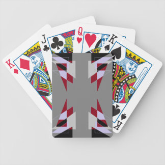 TRE 4 Triangles Abstract Grey Blue Red White Card Deck