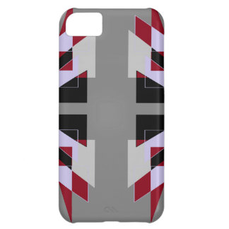 TRE 4 Triangles Abstract Grey Blue Red White Case For iPhone 5C